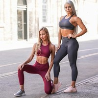 Yoga Set Women Sport Suit Sports Wear For Women Gym Workout Clothes Sport Set Fitness Clothing Padded Training Wear Yoga Outfit