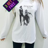 Fleetwood Mac Shirt White Unisex Men Women THIN SOFT Tshirt Long Sleeve