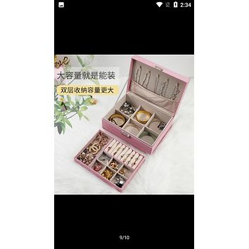 Transparent Make Up Container Love Shape Acrylic Cosmetics Pencil Case Makeup Organizer Cosmetic Holder Storage Box