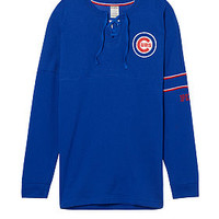 Chicago Cubs Bling Lace-up Varsity Crew - PINK - Victoria's Secret