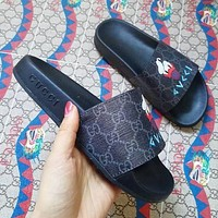 Gucci men and women Fashion Slippers-6