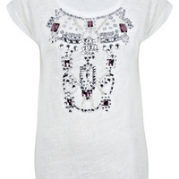 Jewelled Necklace Tee - View All  - Sale & Offers