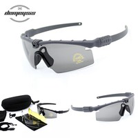 Exellent Quality Tactical Polarized Glasses Army Goggle Eyewear Shooting GLasses For Men Sport Sunglasses For Wargame 3 Lens