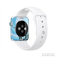 The Vector Blue Abstract Fish Full-Body Skin Set for the Apple Watch