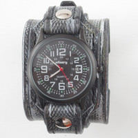 Leather Watch, Military Watch, Infantry Watch, Men Watch, Unique Watch-Brown, Leather Watch Cuff, Gift