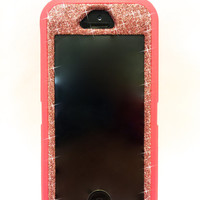 iPhone 5/5s Otterbox Case Glitter Cute Sparkly Bling Defender Series Custom Case pink / Kunzite