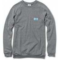 Women's Heather Grey Embroidered Crew    TOMS.com