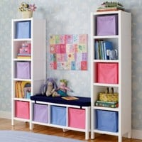 Kids' Bookcases: Kids White Cube Collection
