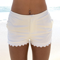 Wave Of Hope Shorts In White