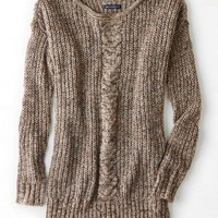AEO Women's Cable Front Jegging Sweater