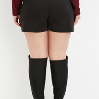 Plus Size Classic Snap-Buttoned Shorts