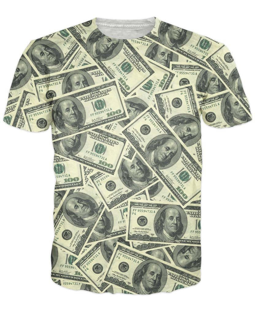 Image of Hundred Dollar Bill Collage T-Shirt