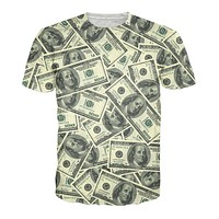 Hundred Dollar Bill Collage T-Shirt