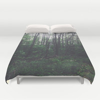 INTO THE WOODS Duvet Cover by REASONandRHYME