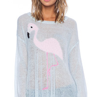 Wildfox Couture White Label Pink Pet Sweater in Blue