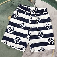 LV New fahsion monogram letter print stripe shorts
