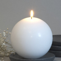 White Ball Candle 4""
