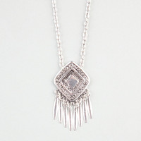 Full Tilt Etched Medallion Spike Necklace Silver One Size For Women 24281514001