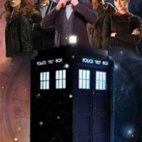 """Doctor Who - GLOW IN THE DARK - TV Show Poster (The Doctor, The Tardis & The Season 7 Team) (Amy, Rory, Clara, River Song & The Doctor) (Size: 24"""" x 36"""")"""