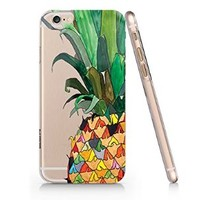 Pineapples Slim Pattern Iphone 6 Case, Clear Iphone 6 Hard Cover Case (For Apple Iphone 6 4.7 Inch Screen)-Emerishop (AH884)