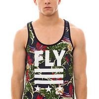 Born Fly Tank Top Floral in Navy