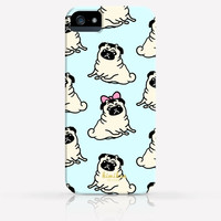 Cute Pug Dog Pattern iPhone 4 Case, iPhone 4s Case, iPhone 5 Case, iPhone 5s Case, iPhone Hard Plastic Case