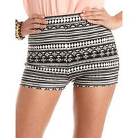High Waisted Tribal Print Short: Charlotte Russe