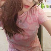 Gucci Round neck Short sleeves Pink T-shirt