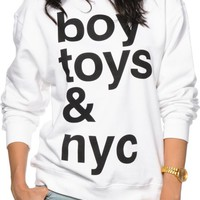 Married To The Mob Boy Toys & NYC Crew Neck Sweatshirt