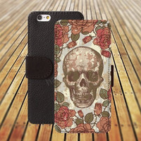 iphone 5 5s case skull case flowers colorful iphone 4/4s iPhone 6 6 Plus iphone 5C Wallet Case,iPhone 5 Case,Cover,Cases colorful pattern L217