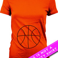 Pregnancy Announcement Shirt Funny Pregnancy T Shirt Basketball Shirt Mom Gifts Maternity Gifts Expectant Mother Ladies Tee MAT-541