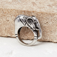 Elephant Etched Ring