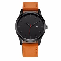 Dropshipping Large Dial Top Luxury Brand Men Watches Men's Sports Quartz Clock Man Leather Military Wristwatch Relogio Masculino