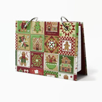 3 x 5 index card holder, Christmas at home quilt design, recipe binder, holiday recipe book, Christmas mini planner or stocking stuffer