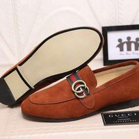hcxx Replica GG brand men suede loafers date formal shoes