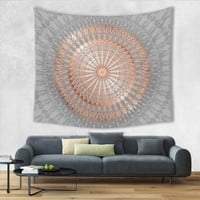 Olivia Rose Gold & Gray Mandala Tapestry