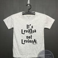It's Leviosa Not Leviosa shirt - Harry potter Kids Shirt - Girls Clothing- Funny Birthday, Kid Shirt, little girl , Flock printing