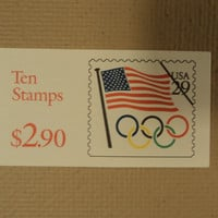 USPS Scott 2528a 29c Book Of 10 Flag Olympic Rings 1991 Stamps Mint Booklet -- New
