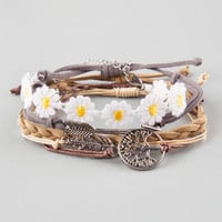 Full Tilt 5 Piece Arrow/Daisy/Feather/Tree Bracelets Multi One Size For Women 25277695701