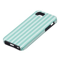 Teal and White Stripes iPhone 5 Cases