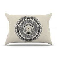 "Famenxt ""Black & White Boho Mandala"" Geometric Pillow Sham"
