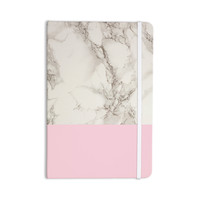 "Suzanne Carter ""Marble And Pink Block"" Modern Contemporary Everything Notebook"