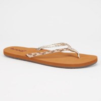 Reef Twisted Stars Womens Sandals Champagne  In Sizes