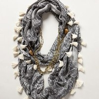 Tasseled Necklace Scarf by Floreat Grey One Size Necklaces