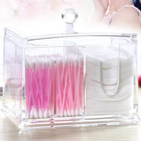 Hot sale High quality Holder Box Cotton Swabs Stick Storage Cosmetic Makeup organizer  box case home decor,Free shipping.