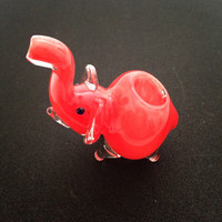 Mini elephant pipe in Red