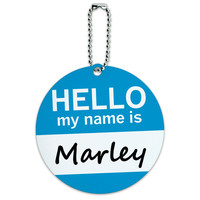 Marley Hello My Name Is Round ID Card Luggage Tag