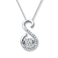 Diamonds in Rhythm 1/15 ct tw S Necklace Sterling Silver