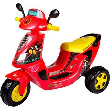 Disney Mickey Mouse 6-Volt 3-Wheel Scooter Battery-Powered Ride-On