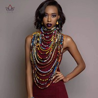 African Cloth Collar Necklace